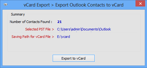 convert outlook contacts to vcard