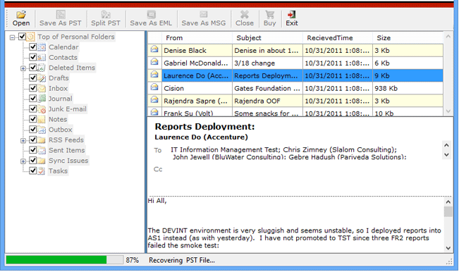 how to fix a corrupted outlook pst file